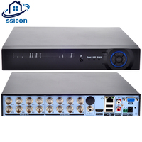 SSICON 16CH 1080N DVR Hybrid NVR Support 8*1080P;16*960P;4*3MP;4*5MP IP Camera 16 Channel CCTV Video Recorder