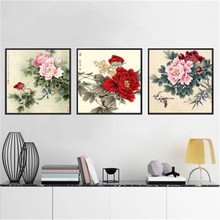 DiamondEmbroidery,China,landscape,scenery,Peony flowers,5D Full Diamond Painting,Cross Stitch,Flower Mosaic,Decoration