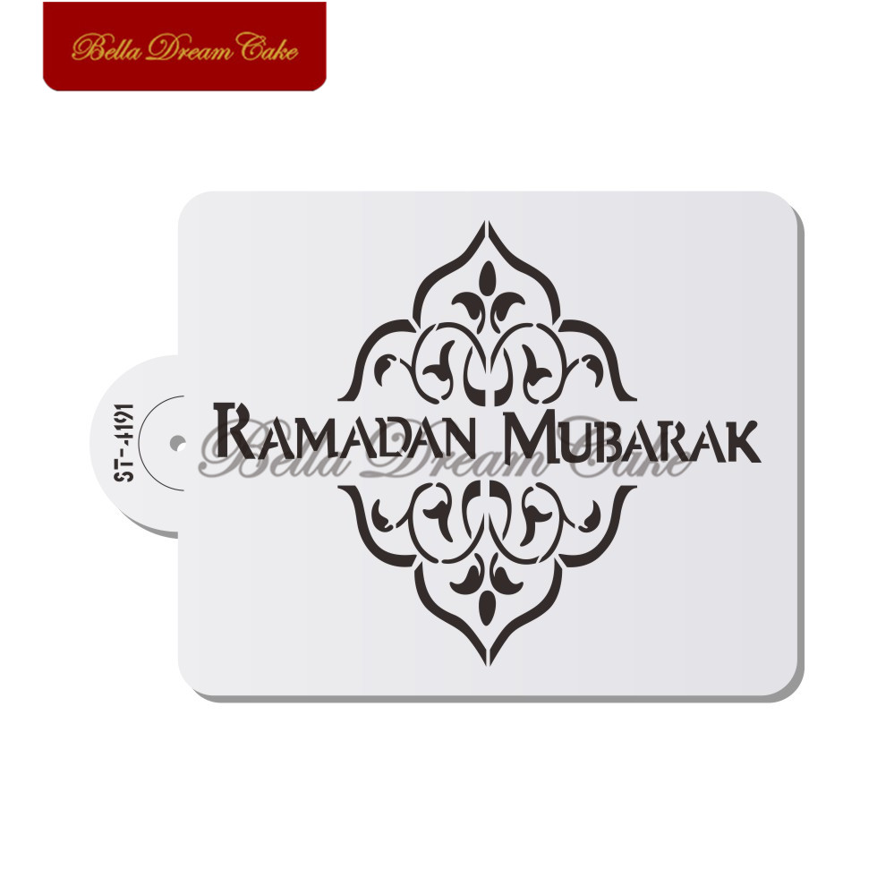 US $2 14 32% OFF|Ramadan Eid Design Cake Stencil Cake Side Stencils Laser  Cut Biscuits Fondant Mold Cake Decorating Tools-in Cake Molds from Home &