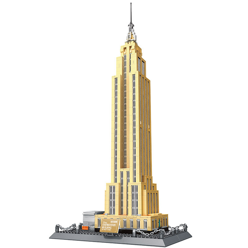 WANGE Architecture Empire State Building World Famous Skyline Blocks Sets Bricks Classic Model Kids Toys Compatible Legoings