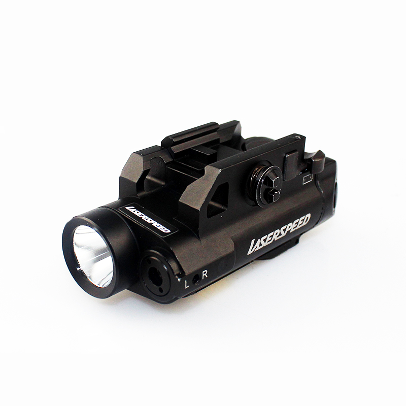 New design Rifle&Pistol LED light and green laser sight combo with pressure switch function