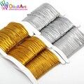 OlingArt 1,0 мм/1,5 мм/2,0 мм 6 м золотистая/серебристая нить, нейлоновые эластичные лески, веревки, веревка, проволока для самостоятельного изготовл...
