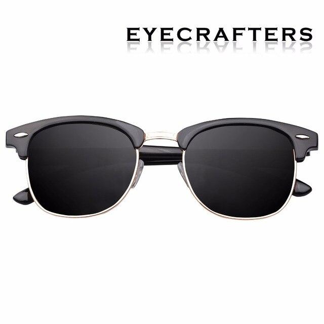 e8c64af6530 Brown Designer Inspired Classic Half Frame Horned Semi-Rimless Mens Womens  Fashion Sunglasses Polarized Retro