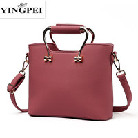 New Ladies Solid Handbags High Quality Women Classic Brand Design HOT Sale New Lady PU Leather