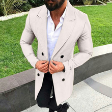 цена Mens Long Jacket Men Fashion Winter Trench Coat Men Long Overcoat Classic Jackets Solid Slim Fit Outwear manteau homme hiver