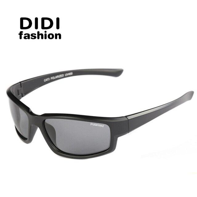 DIDI wide square polarized sunglasses men brand designer original fishing sport glasses Ovrsized Retro goggle Oculos de sol H651