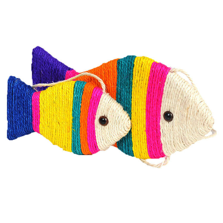 Pet cat toys funny cat scratch toy cat sisal toys scratching post Fish styles 24.5*12cm 40*16cm cat toys interactive