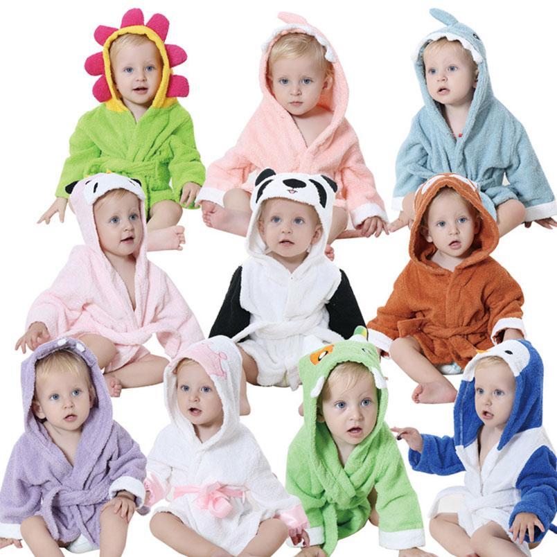 0-3 Jahre Mit Kapuze Bademantel Badetuch Mantel Robes Pyjamas Homewear Baumwolle Weiche Tierform Baby Kinder Kleidung Ändern Pads Ausgezeichnete (In) QualitäT