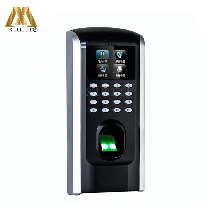 ZK F7plus Biometric Fingerprint Time Attendance And Access Control Color Screen With Keypad And TCP/IP USB Door Access Control zk vf300 face time attendance and access control with rfid card reader tcp ip touch screen facial door access controller system