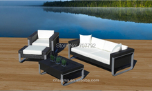 Outdoor Patio New Rattan Wicker Sofa Furniture 4pc Aluminum Resin Couch Set(China)