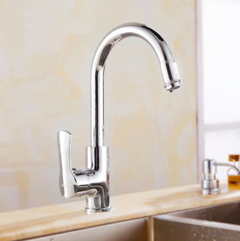 US $59.5 30% OFF|Ktichen Faucet Luxury Rose Gold Finish Brass High Arch  Kitchen Sink Faucet Single Handle Swivel Spout Wash Basin Mixer Water  Tap-in ...