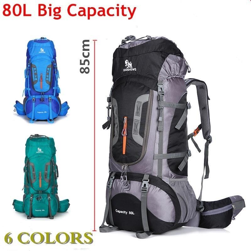 80L grande capacité Camping randonnée sac à dos en plein air hommes femmes escalade voyage sac à bandoulière étanche résistant à l'usure Nylon sac à dos