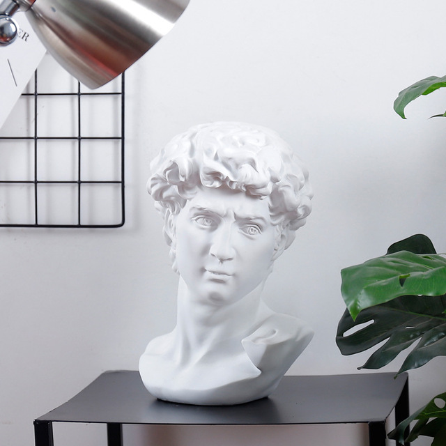 David Head Portraits Bust Mini Gypsum Statue Michelangelo Buonarroti Home Decoration for Resin Art&Craft Sketch Practice 4