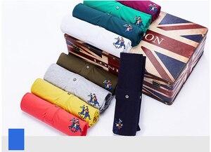 Image 5 - Polos de tela suave con solapa bordada para hombre, polos de negocios de talla grande, Polo de manga corta