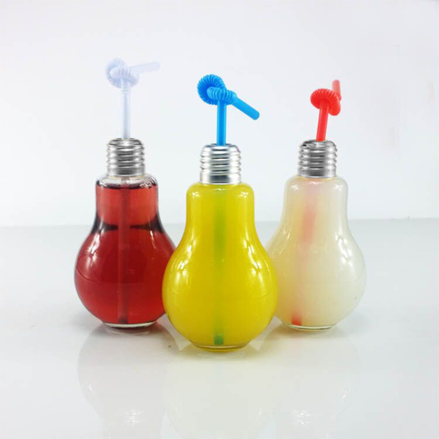 Decor Drink Bottles Impressive Creative Clear Glass Light Bulb Design Drink Bottle For Beverage Design Inspiration