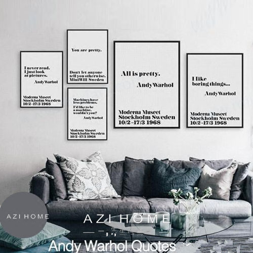 Nordic Black White Minimalist Typography Andy Warhol Life Quotes ...