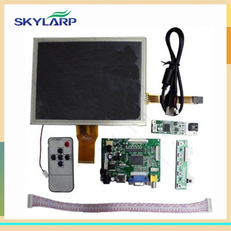 skylarpu 8 inch Complete LCD display for AT080TN52 HDMI/VGA/2AV Driver board touch panel kit for Raspberry Pi LCD screen display 10pcs 7 inch lcd display monitor 800 480 for raspberry pi driver board hdmi vga 2av size 165 100mm