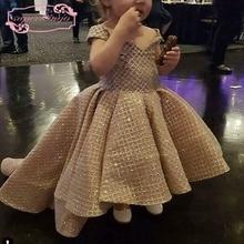 SuperKimJo Off the Shoulder Cheap Flower Girl Dresses for Weddings Kid Prom Pageant Little Dress Vestido De Festa