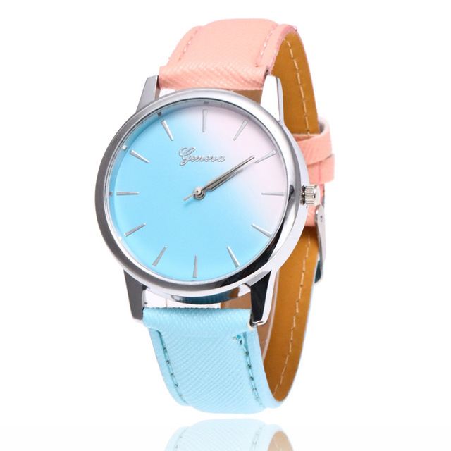 Hot Sales bayan kol saat Women Watch Quartz Wrist Watch Rainbow Design Casual Le
