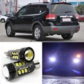 2 pcs Brand New Alta Qualidade Excelente Livre de Erros 5050 SMD 360 Graus LED de Backup luz Reversa Lâmpadas T15 Para Kia Borrego