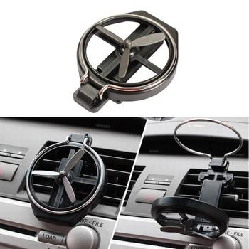 Soporte para taza de coche, ventilador plegable de salida de aire negro para Ford Focus 2 1 Fiesta Mondeo 4 3 Transit Fusion Kuga Ranger Mustang KA s-max