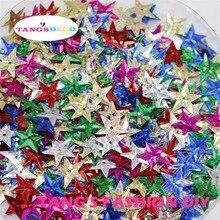 100g   15MM DIY decoration mix laser color star shape sequins/confettis party table decorations