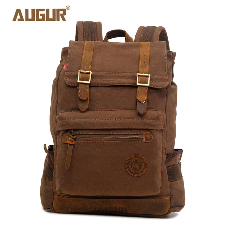 YISHEN High Quality Canvas Large Capacity Men Backpack Casual Male Travel Backpack School Bags For Boys Laptop Backpack AG8165#
