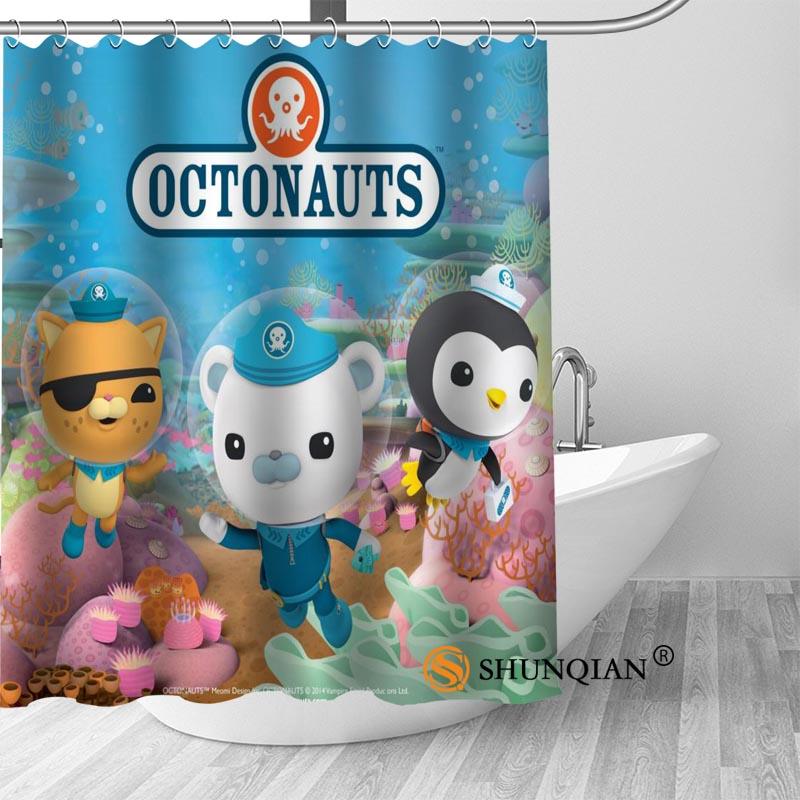 High Quality Custom octonauts Shower Curtains Polyester Bathroom Curtains With Hook Bath Curtain Bathroom Decor