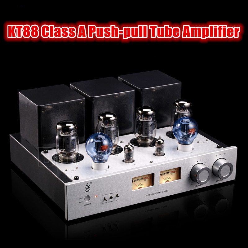 Douk Audio Latest Hi-End KT88 Class A Push-pull Tube Amplifier Audio HiFi Stereo Power amp 50W+50W music hall latest muzishare x7 push pull stereo kt88 valve tube integrated amplifier phono preamp 45w 2 power amp