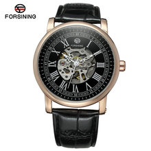 Forsining Skeleton Watch Transparent Roman Number Watches Men Luxury Brand Mechanical Men Watch Steampunk Wristwatches