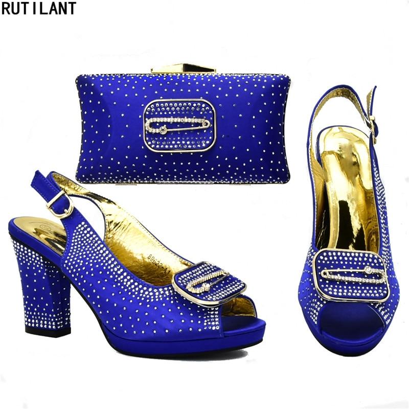 Nigeria Negro Nueva Conjunto Zapato Bolsa Fiesta Zapatos Italiano Juego Llegada Y Mujeres azul Bolsos En De Tacones A amarillo verde rojo Bolso Las África PrHYPaSF