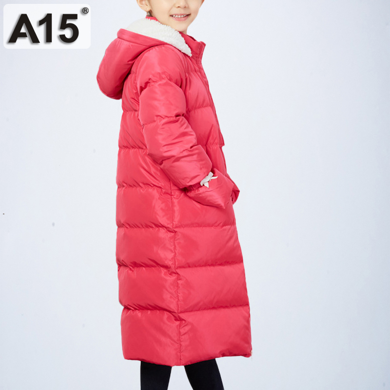 A15 Teenage Girls Winter Jackets Warm Long Kids Winter Down Jacket Children Girls Parka Down Coat Red Clothing 6 8 10 12 14 Year a15 kids down coats and jackets 2018 boys long for youth children teenage winter coat outerwear girl thick warm fur hooded parka