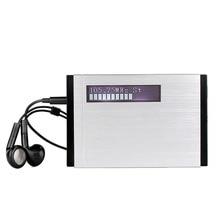 TIVDIO T-101 DAB FM Stereo Radio Pocket Receiver Mini Portable Clock Digital DAB+ RDS Music Player Earphone F9204