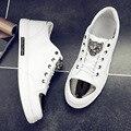 2016 otoño nuevos hombres de moda zapatos casuales marca hip-hop cómoda transpirable zapatos de lentejuelas de alta gama baja para ayudar a zapatos planos