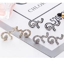 MZC 2017 New Designer 3 Colors Earrings Crystal for Women Stud Earring Brincos Earing pendientes pending