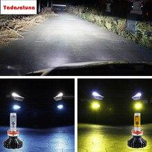 DIY Carro LEVOU Lâmpadas de Farol 55 W Luzes de Nevoeiro ZES Chip Âmbar lâmpadas-3000 K/6500 K Branco/8000 K Azul H11/H8/H9 Livre de Erros para BMW CARRO