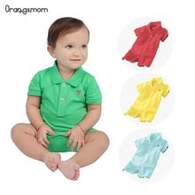 Newest 2014 summer unisex baby polo clothes top quality comfortable 100% cotton 9 colours romper infant clothes polo baby цена 2017