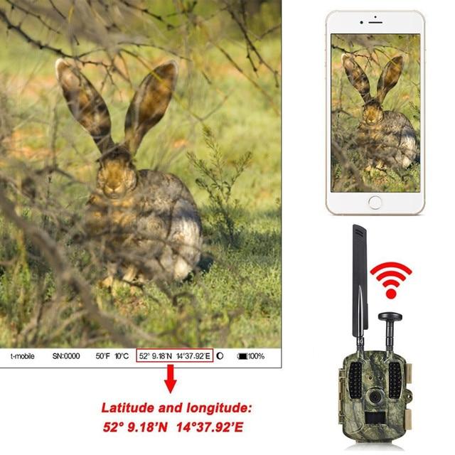 Hunting Camera GPS 4G Scout Guard Night Vision Hunter Camera Chasse Infrared Game Wild Trail Foto Traps Camara De Caza Chasse 4