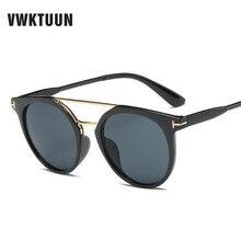 VWKTUUN Round Sunglasses For Women Glasses Twin Beam Sun glasses Male Unqiue Mirror Sunglasses Men Glasses Female Sunglass