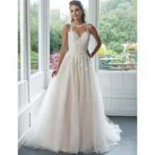 Vestido de Noiva Plus Size Wedding Dress Lace Top Halter Illusion Back Wedding Gowns Custom Made Court Train Bride Dresses 2019