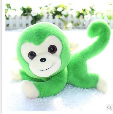 Stuffed Animal 25cm Green Cute Monkey Plush Toy Doll Great Gift W454