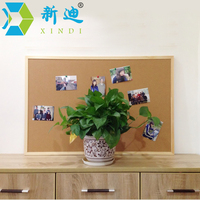 Free Shipping Wood Frame Decorative Cork Board Office Supplier 60 90cm Factory Direct Sell Home Decorative