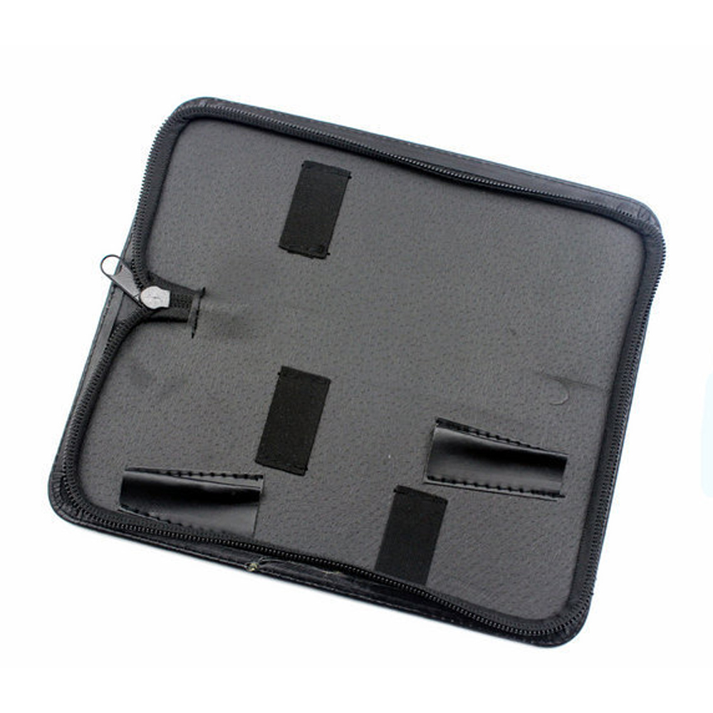 Holder Case Durable Practical PU Leather Hair Scissor Bag Hairdressing Tools Pouch Professional Waist Pack Solid Black Barber
