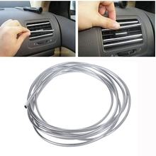 1Pcs 4M DIY Car Auto Protect Decor Interior Exterior Molding Trim Strip Line Silver
