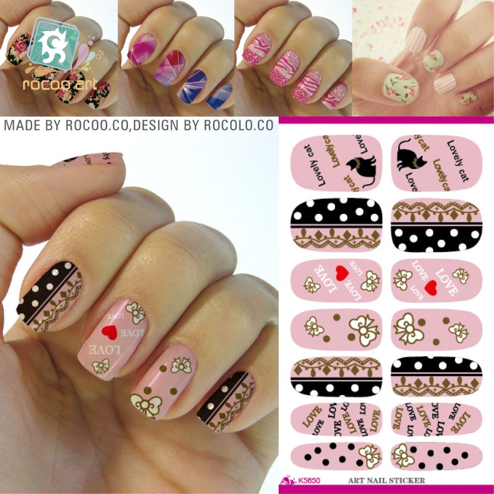 K5650/Water Transfer Nail Art Decals Cat Butterfly Nail Wraps Sticker Cartoon Nail Water Decals Paper 2015