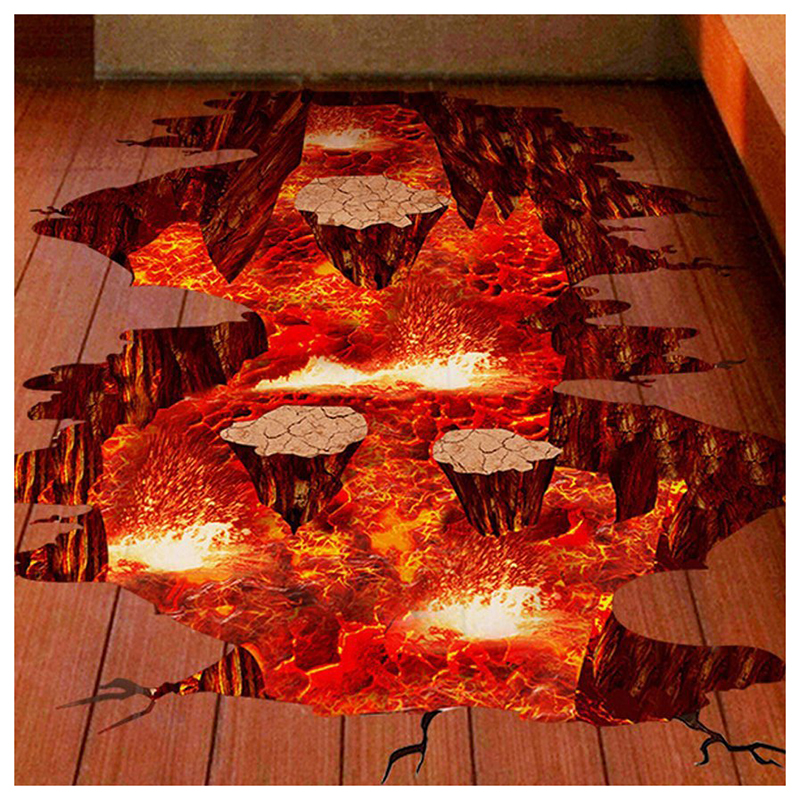 Volcan Bec Magma Lava Rock Sticker Parole Sticker Home Decor pour Chambre Pépinière Salon Escaliers 24x35 pouces