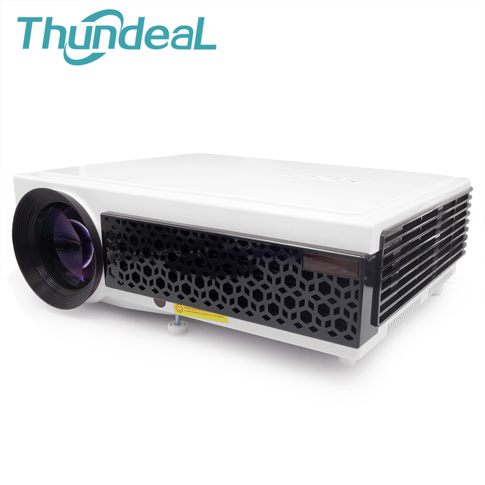 Thundeal led96 full hd projector 4 4 andorid smart wifi for Projector tv reviews