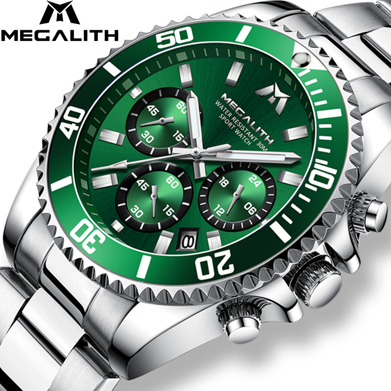 MEGALITH Reloj Hombre 2020 Fashion Casual Watch Men Waterproof Analog 24 Hour Date Quartz Watches Sports Chronograph Male Clock
