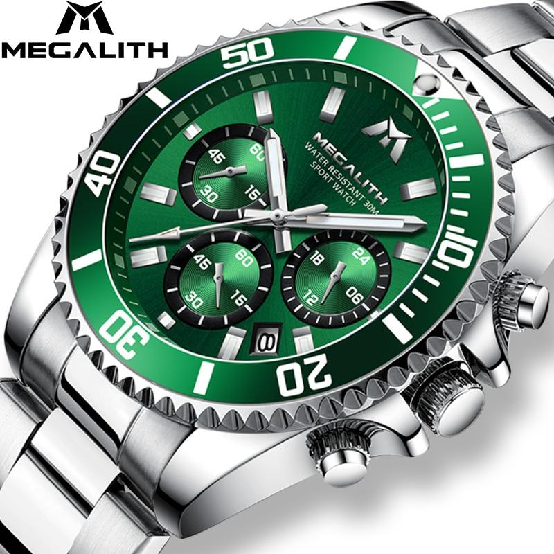 MEGALITH Reloj Hombre 2020 Fashion Casual Watch Men Waterproof Analog 24 Hour Date Quartz Watches Sports Chronograph Male Clock|Quartz Watches| |  - title=