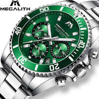 MEGALITH Reloj Hombre 2018 Mode Beiläufige Uhr Männer Wasserdichte Analog 24 Stunde Datum Quarz Uhren Sport Chronograph Männlichen Uhr